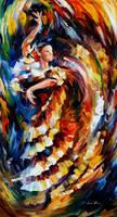 Passionate Flamenco by Leonid Afremov