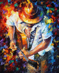 Guitar And Soul by Leonid Afremov by Leonidafremov