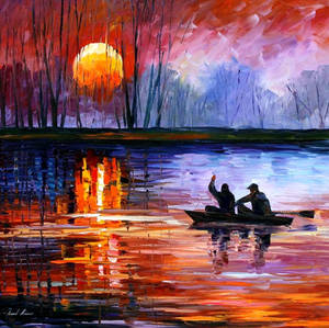 Fishing On The Lake by Leonid Afremov