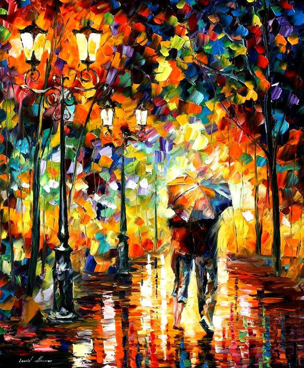Under One Umbrella by Leonid Afremov by Leonidafremov on ...