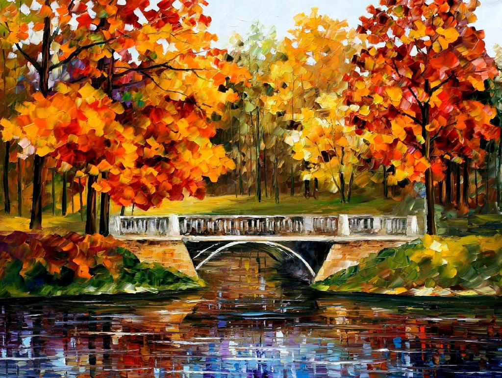 Fall Blinks by Leonid Afremov by Leonidafremov on DeviantArt