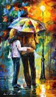 Rainy Hug by Leonid Afremov