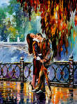 Kiss After The Rain by Leonid Afremov