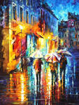 Three Umbrellas 2 by Leonid Afremov