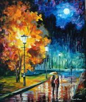 Romantic Night by Leonid Afremov by Leonidafremov
