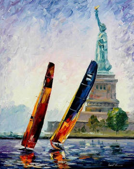 Winds Of New York by Leonid Afremov