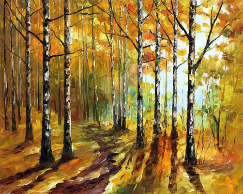 Autumn Birches by Leonid Afremov