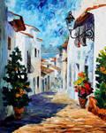 White Street by Leonid Afremov