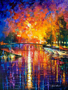 Canal In Fort Lauderdale by Leonid Afremov