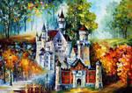 Castle by Leonid Afremov by Leonidafremov