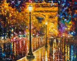 Paris - Champes Elises by Leonid Afremov by Leonidafremov