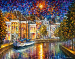 The Entrance to Amsterdam by LEonid Afremov