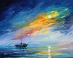 Foggy Sunset by Leonid Afremov