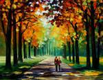 Sunny Autumn by Leonid Afremov