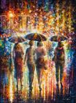 Friends Under The Rain by Leonid Afremov