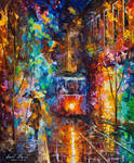 Evening Trolley by Leonid Afremov