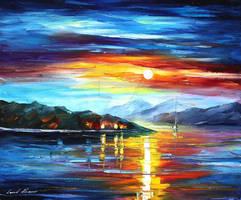 Night Sea 2 by Leonid Afremov by Leonidafremov