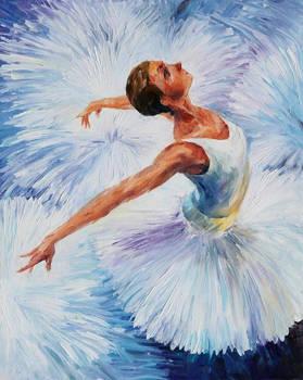 White Swan by Leonid Afremov