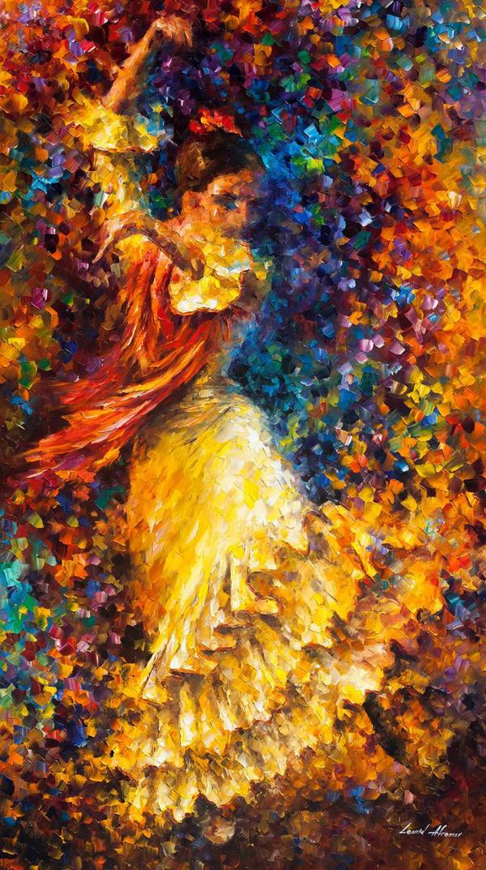 Flamenco And Fire by Leonid Afremov by Leonidafremov on ...