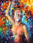 Clown by Leonid Afremov