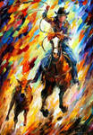 Rodeo The Chase by Leonid Afremov