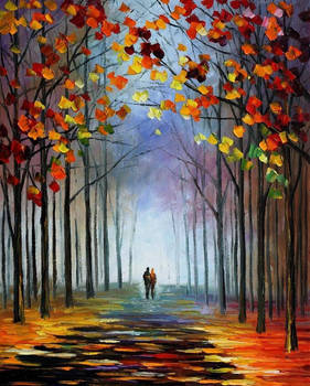 Autumn Fog by Leonid Afremov
