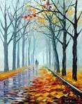 Foggy Alley by Leonid Afremov