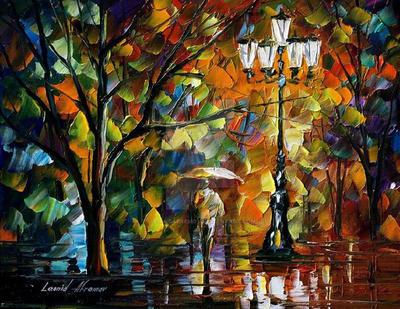 The Loneliness Autumn by Leonid Afremov by Leonidafremov