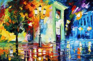Triggering Night by Leonid Afremov by Leonidafremov