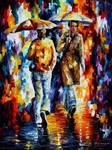 Rainy Encounter by Leonid Afremov