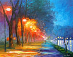 Night By The Lake by Leonid Afremov