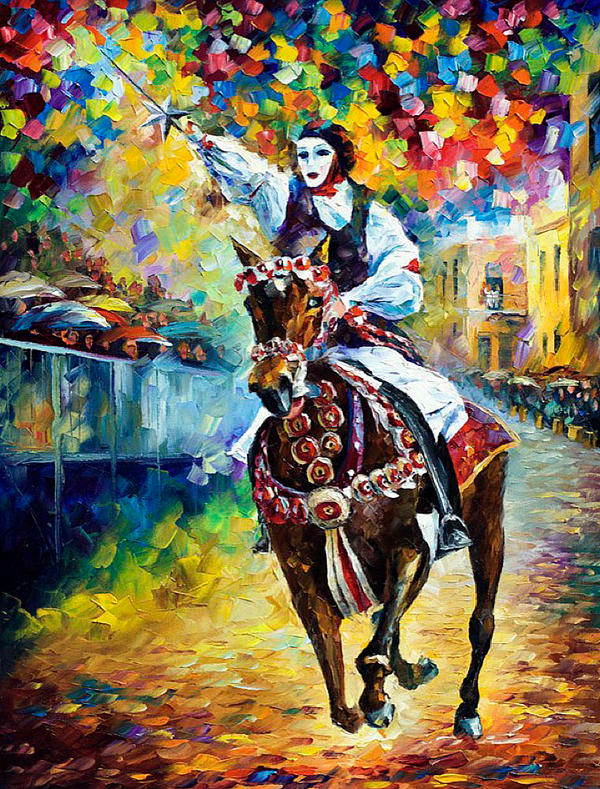 Italian Colorful Horse Painting
