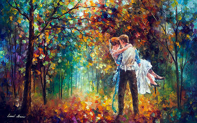 The Moment Of Love by Leonid Afremov