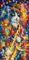 Saxophone Cat by Leonid Afremov