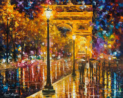 Paris - Champes Elises by Leonid Afremov