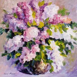 Violet Peace by Leonid Afremov by Leonidafremov