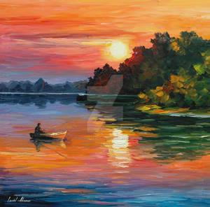 Fisherman by Leonid Afremov