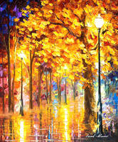 Autumn Trees by Leonid Afremov by Leonidafremov