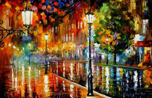 Street Of Illusions by Leonid Afremov by Leonidafremov