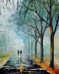 Misty Stroll by Leonid Afremov