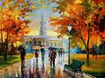 Stroll In An October Park by Leonid Afremov