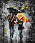 UMBRELLAS OF THE NIGHT  Limited edition giclee