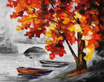 BOATS BY THE BRIDGE  Limited edition giclee
