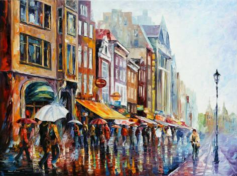 Amsterdam's Rain by Leonid Afremov