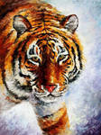 Tiger On The Snow by Leonid Afremov