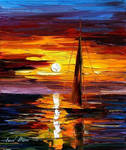 Lonely Sail by Leonid Afremov