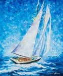 Playa Del Carmen Sailing by Leonid Afremov