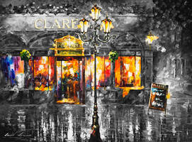 Misty Cafe  Limited edition giclee