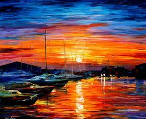 Sicily - Harbor Of Syracuse by Leonid Afremov