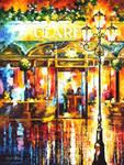Misty Cafe by Leonid Afremov